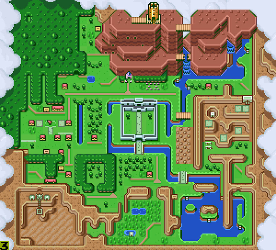 Image result for full size link to the past map