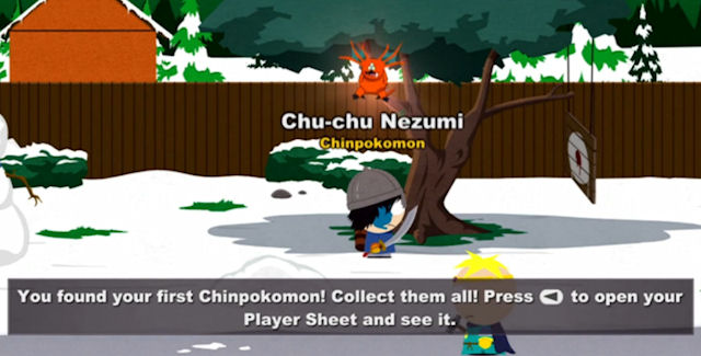 South Park: The Stick of Truth Chinpokomon Locations Guide