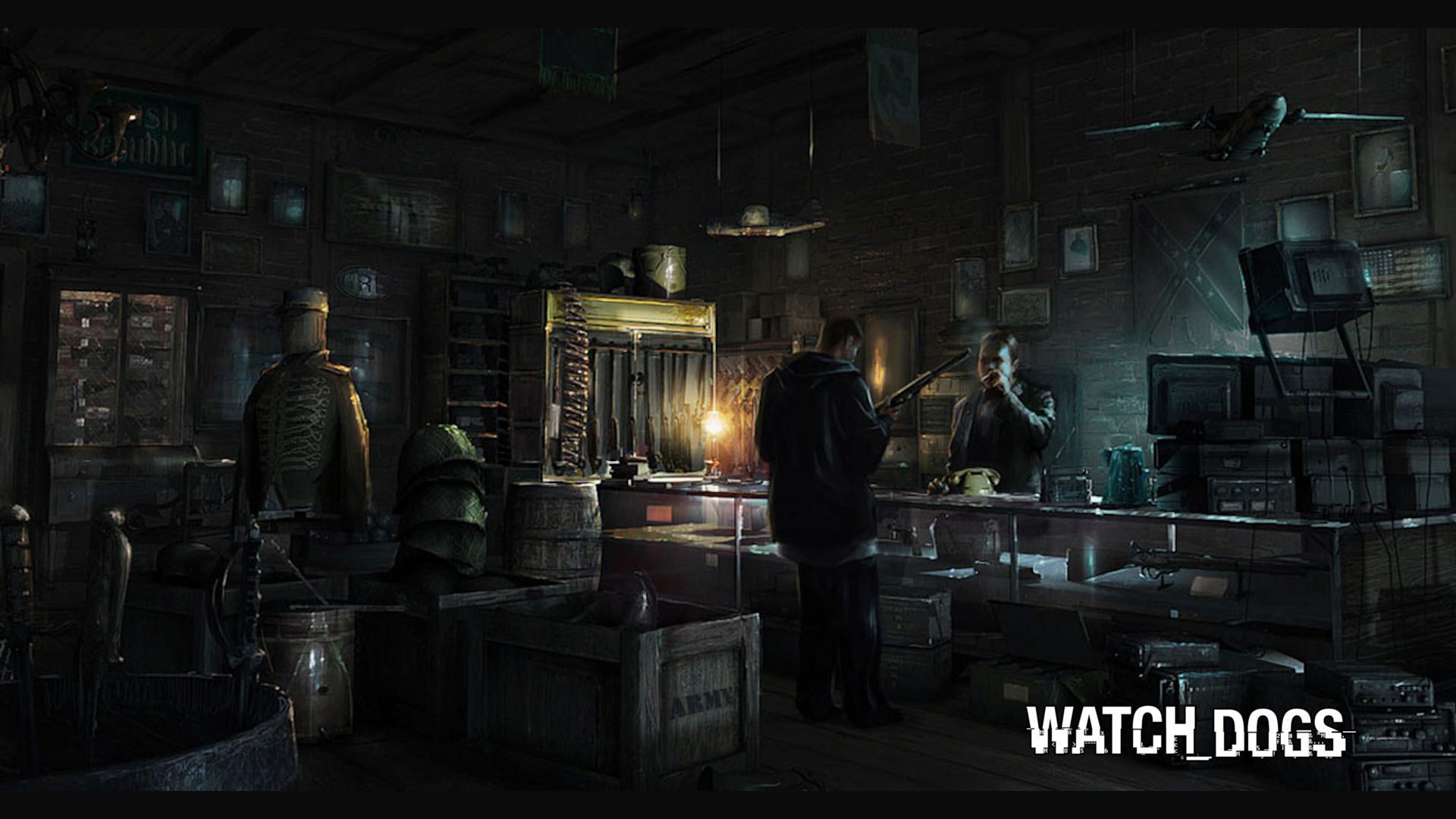 Watch Dogs Weapons Wallpaper