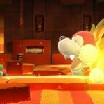 Cutest Boss Ever! Lava Puppy Yoshi's Woolly World Gameplay Screenshot (Wii U)