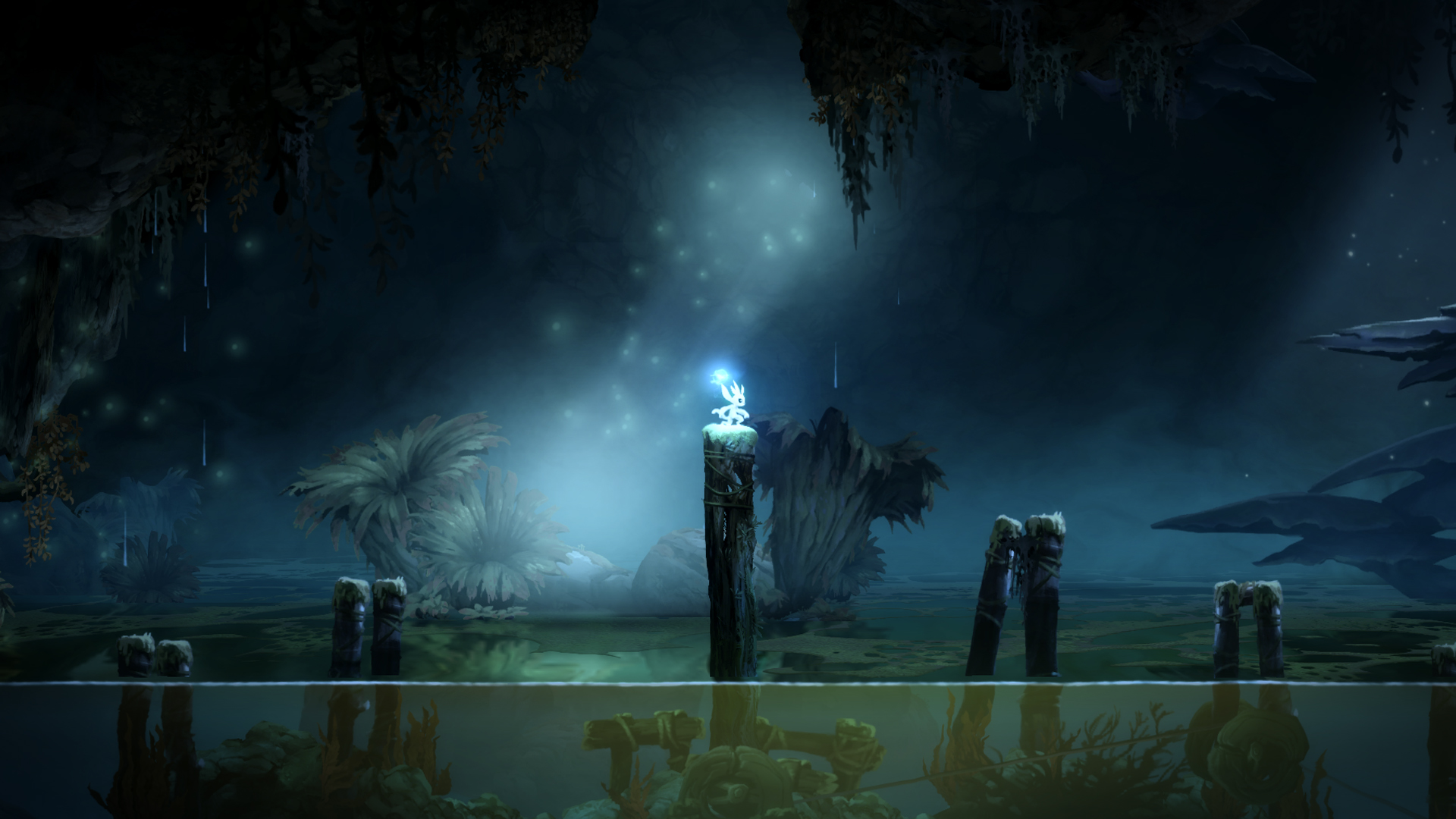Ori And the Blind Forest Above Water Lake Gameplay Screenshot