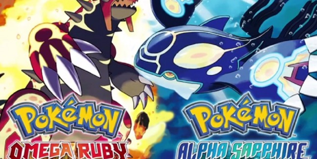 Pokemon Omega Ruby Alpha Sapphire Groudon Kyogre 3DS Artwork