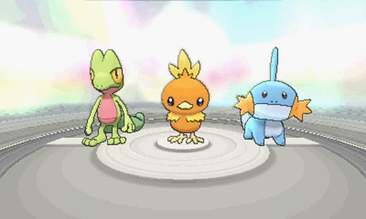 Pokemon Alpha Sapphire Omega Ruby Torchic Treecko Mudkip Gameplay Screenshot 3DS