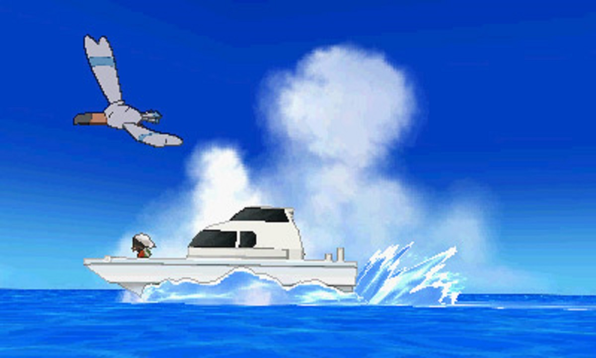 Pokemon Omega Ruby Alpha Sapphire Wingull Boat Cutscene Screenshot 3DS