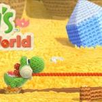 Yoshi's Woolly World Artwork Banner Official Wallpaper (Wii U)
