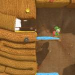 Yoshi's Woolly World Gameplay Screenshot Wall Unthreading (Wii U)