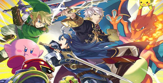 Captain Falcon, Lucina & Robin in Super Smash Bros Wii U & 3DS
