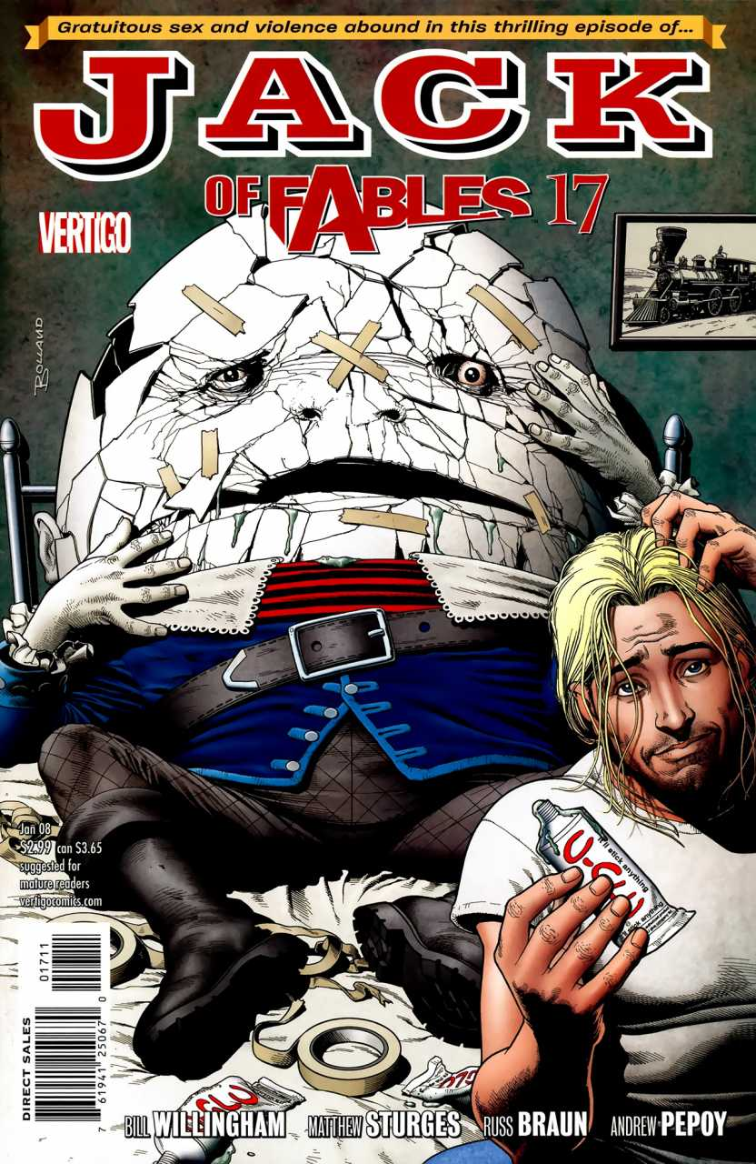 Humpty Dumpty on Jack of Fables cover 17