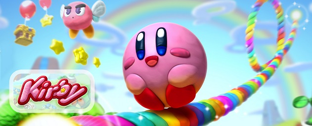 Kirby and the Rainbow Curse Banner Artwork Official Nintendo Wii U