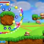 Kirby And the Rainbow Curse Stars & Flowers Gameplay Screenshot Wii U
