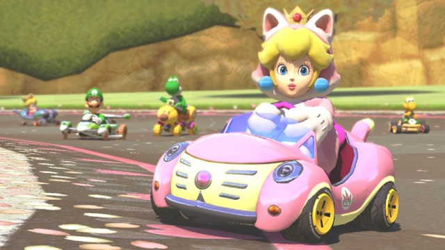 Cat Princess Peach Mario Kart 8 Gameplay Screenshot DLC Pack 1