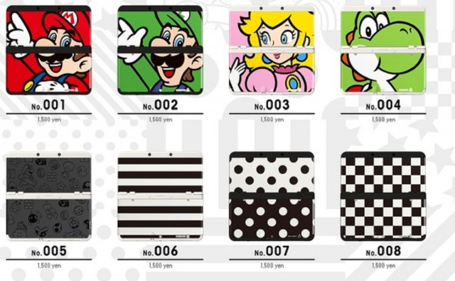 New 3DS Faceplates Mario Luigi Peach Yoshi