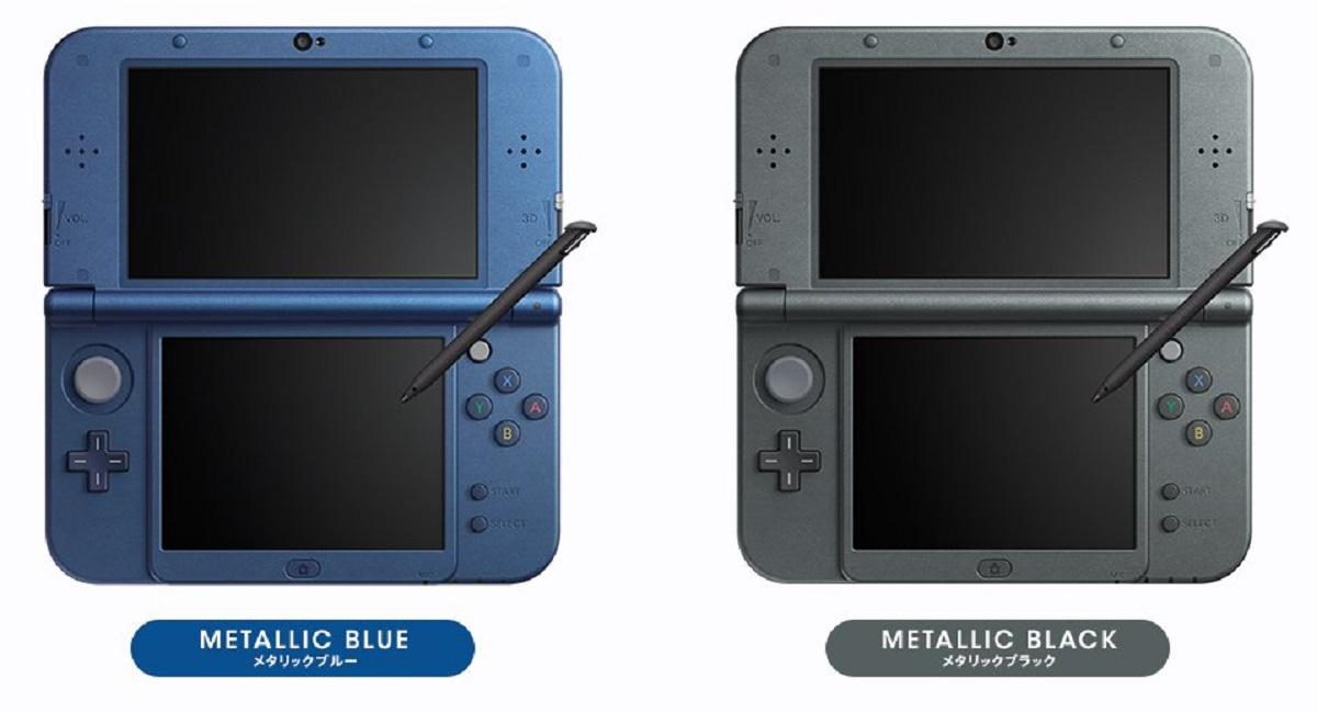 new 3ds xl 2015 nintendo system colors metallic blue black