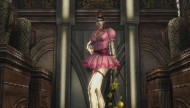 Bayonetta 2 Sexy Skirt Peach Dress Gameplay Screenshot (Wii U)