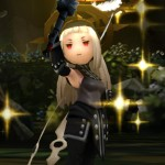 Bravely Second Cute Black Witch Gameplay Screenshot