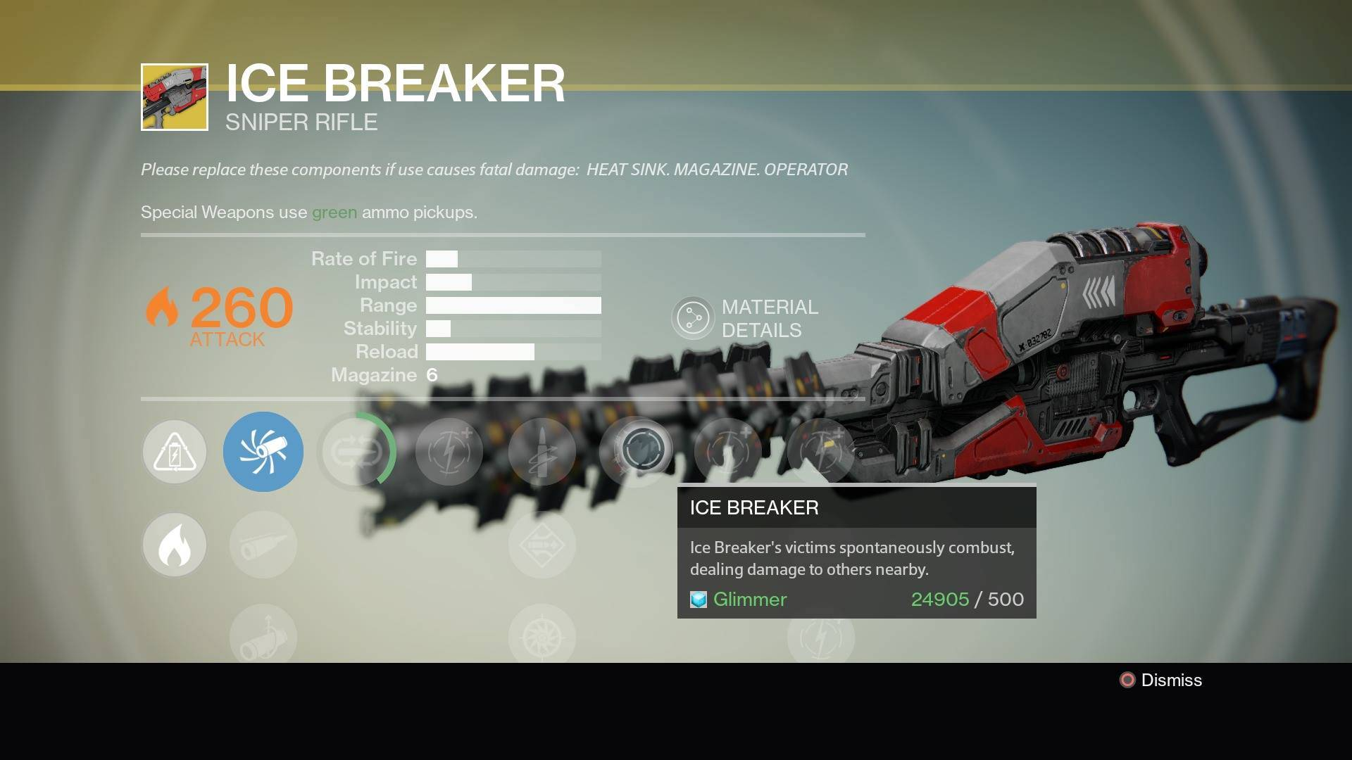 Destiny Ice Breaker Exotic Sniper Rifle