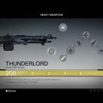 Destiny Thunderlord Exotic machine gun
