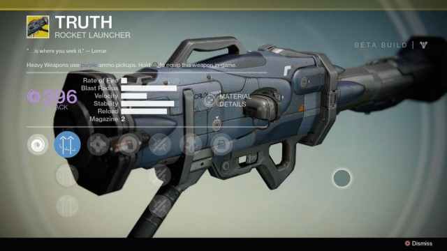 Destiny Truth Exotic rocket launcher