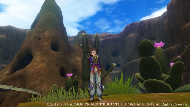 Dragon Quest X 3DS Gameplay Screenshot Cactus Desert Overworld