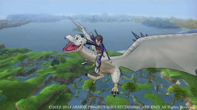 Dragon Quest X 3DS Gameplay Screenshot Flying Mount