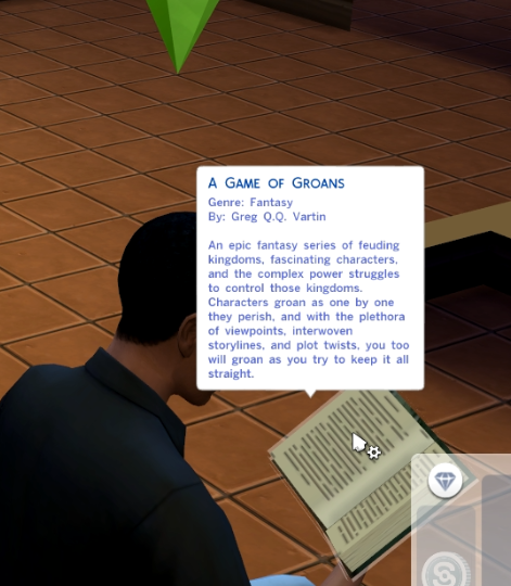 The Sims 4 funny book name