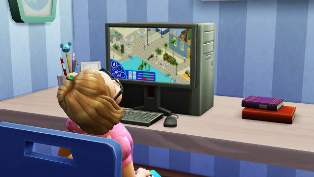 The Sims 4 playing The Sims 1