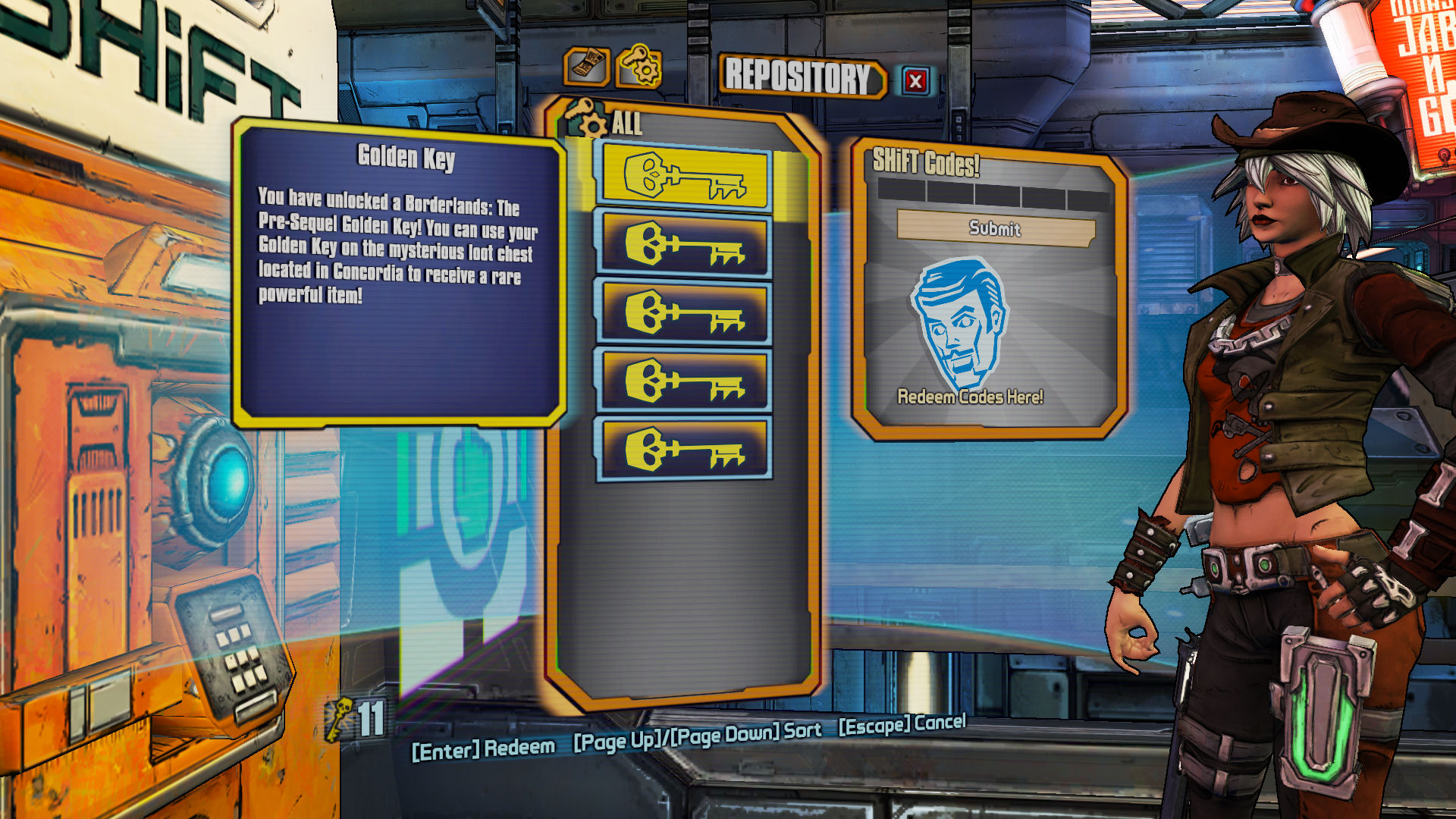Borderlands: The Pre-Sequel: Redeem Golden Keys in SHiFT ... Borderlands The Pre Sequel Shift Codes