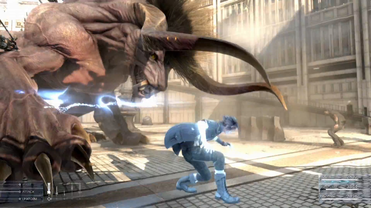 Behemoth Final Fantasy XV Gameplay Screenshot Enemy Attacks