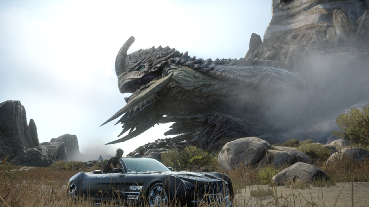 Giant Adamantoise Car Final Fantasy XV Gameplay Screenshot