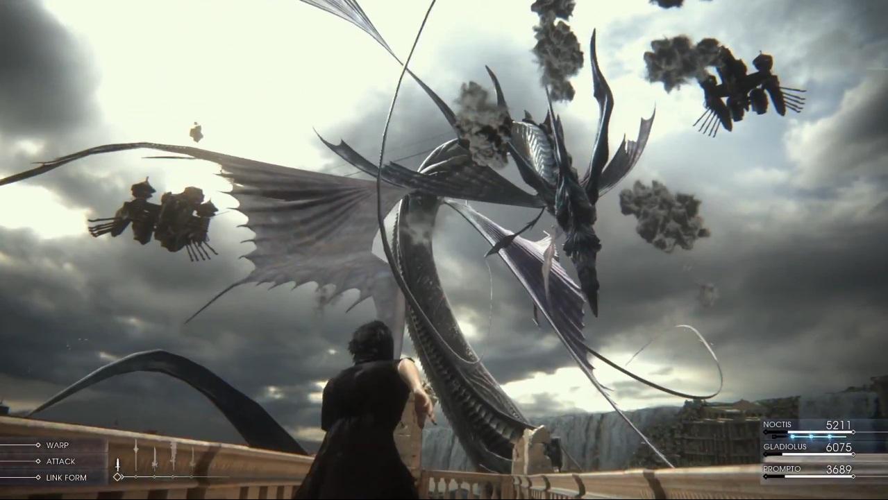Leviathan Final Fantasy XV Summon Gameplay Screenshot