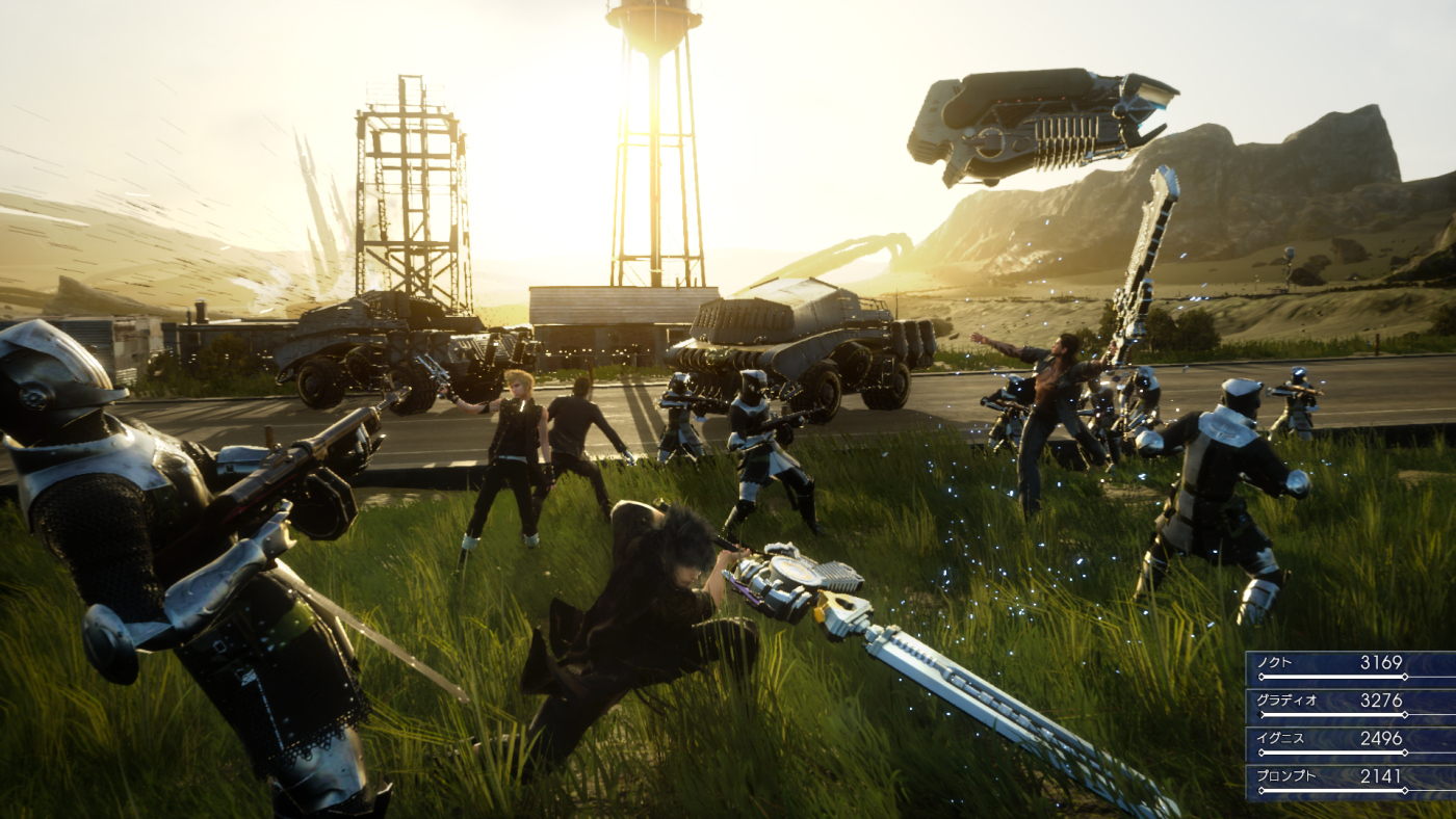 Final Fantasy XV Realtime Battles Gameplay Screenshot