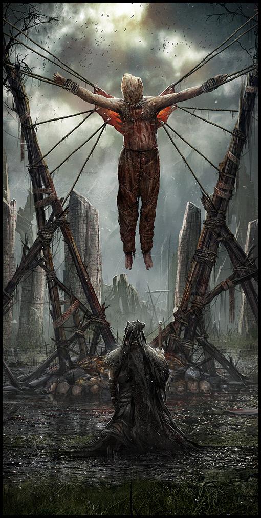 Hellblade PS4 Blood Eagle Concept Artwork