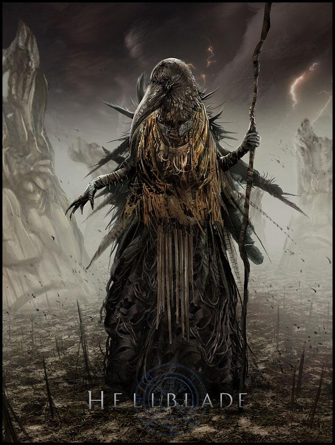 Hellblade PS4 Chozo Concept Artwork