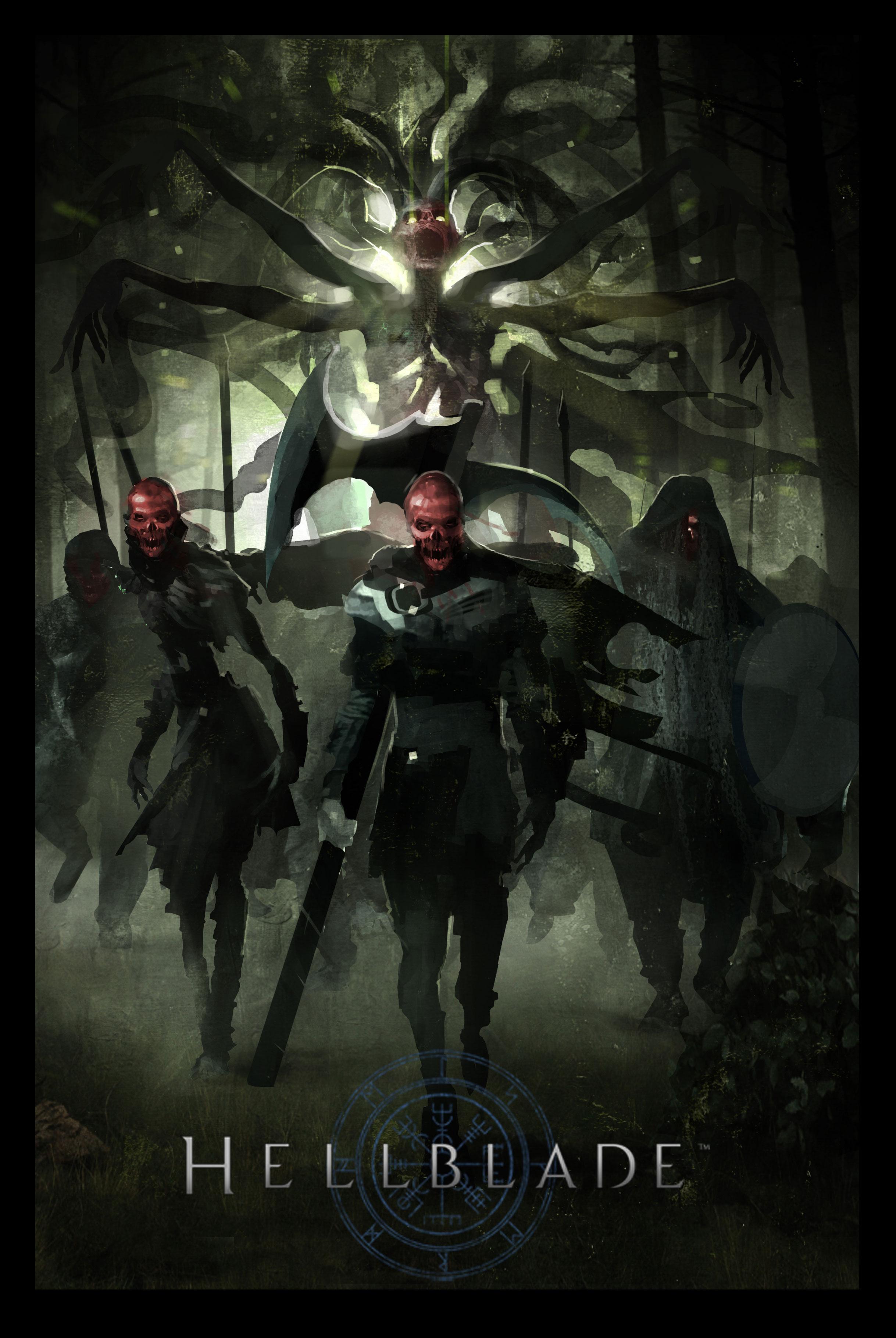 Hellblade PS4 Death Army Concept Artwork