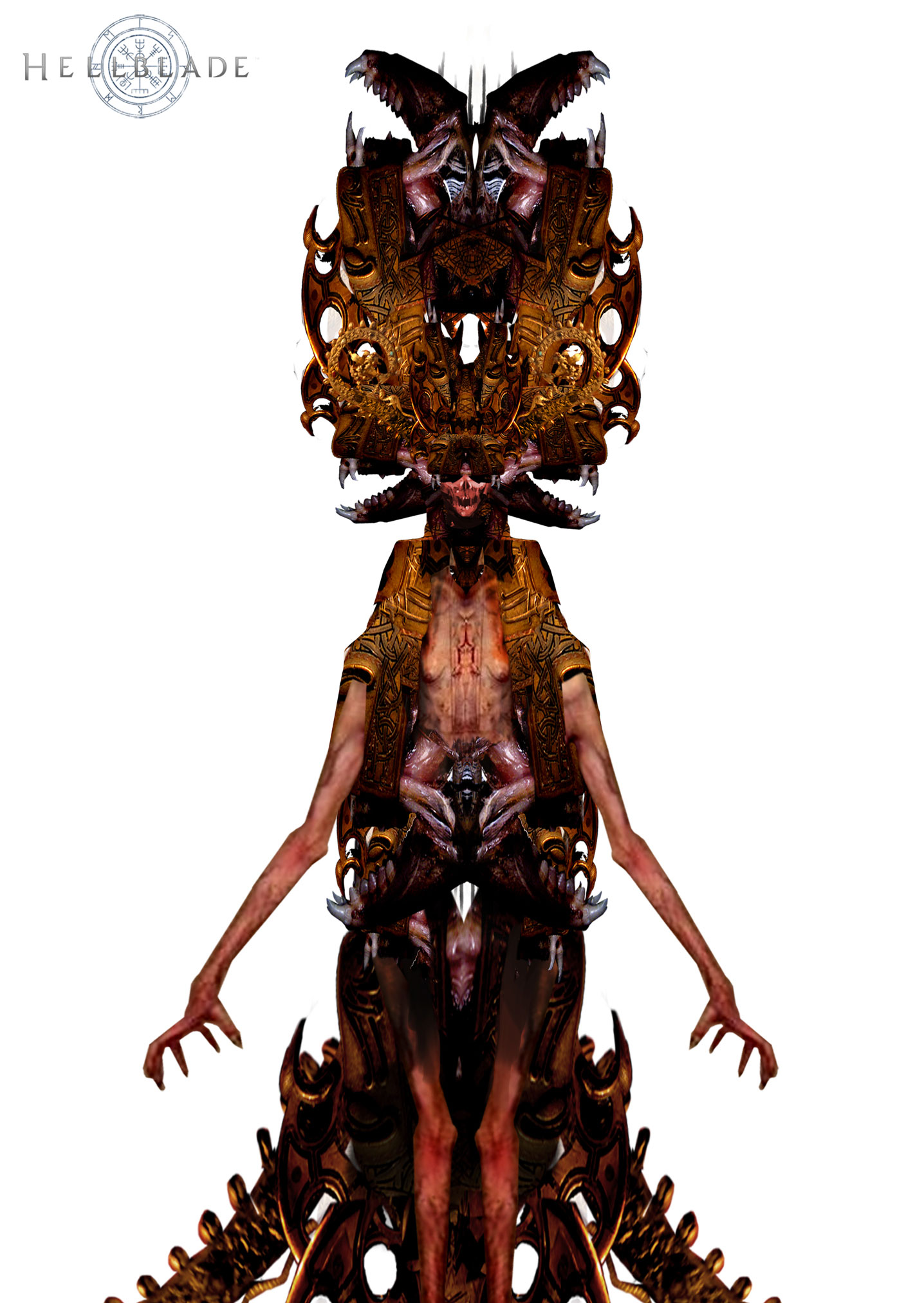 Hellblade PS4 Elmets Ornaments Boss Concept Artwork