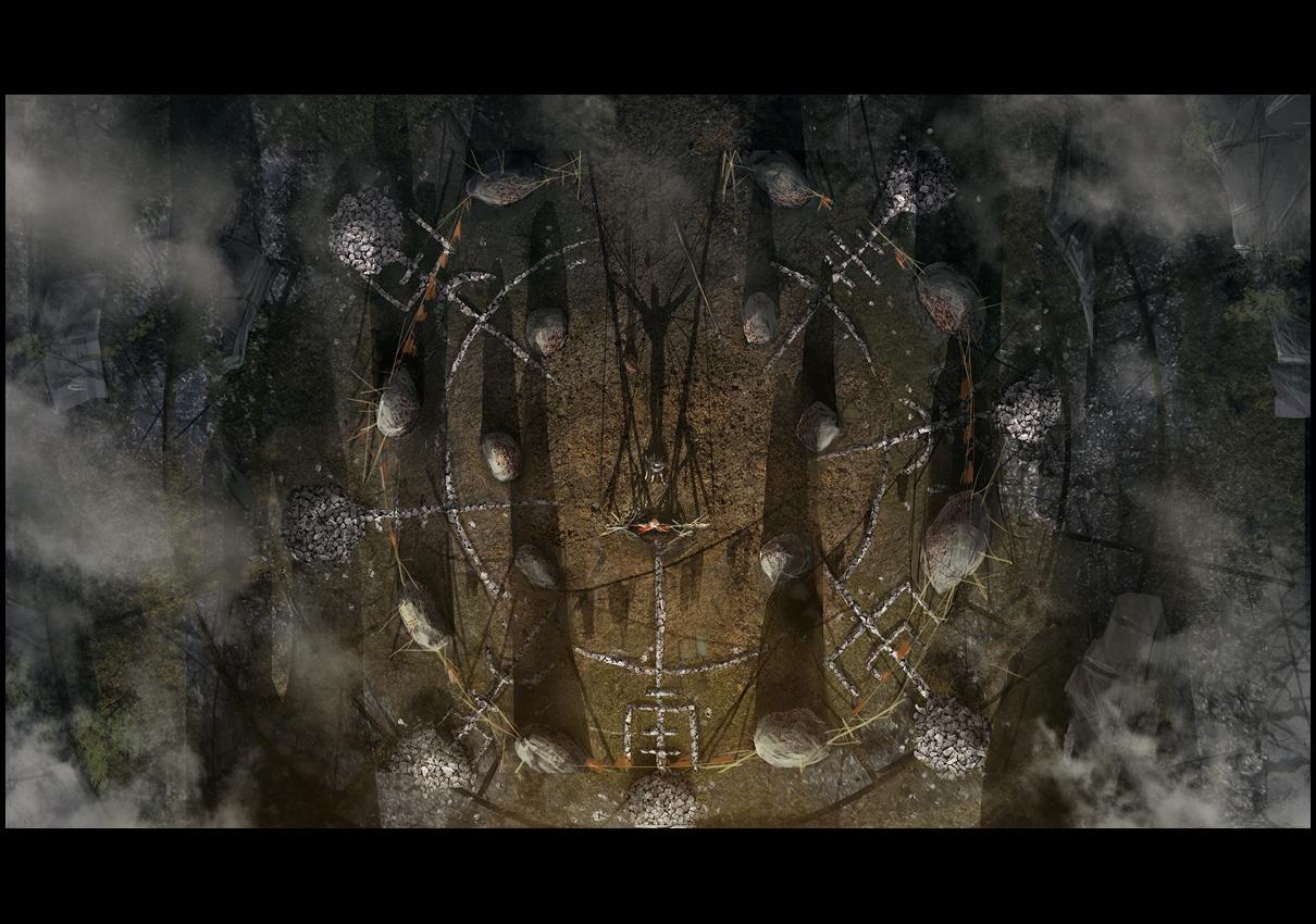 Hellblade PS4 Magic Circle Concept Artwork