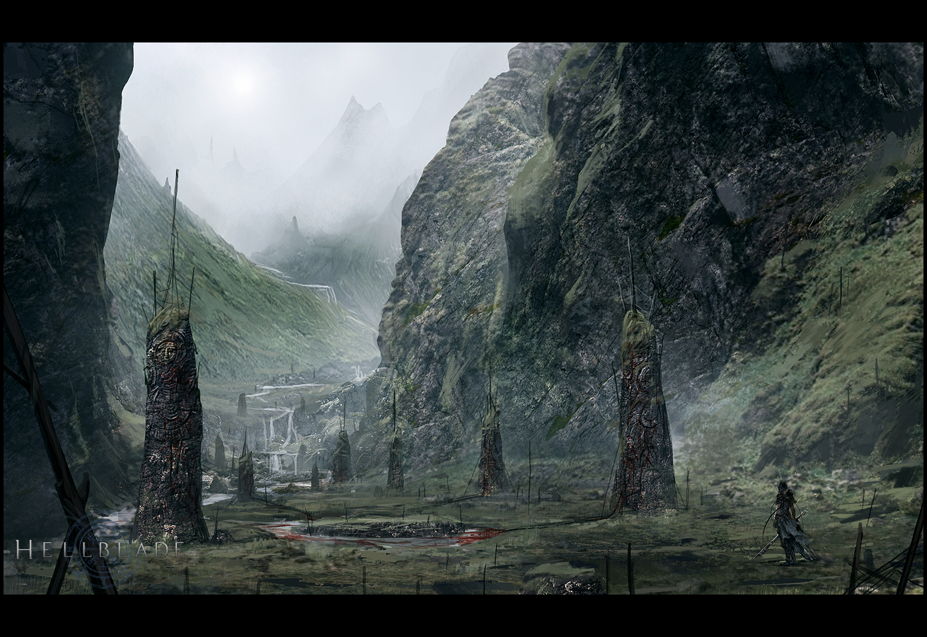 Hellblade PS4 Mood City Concept Artwork