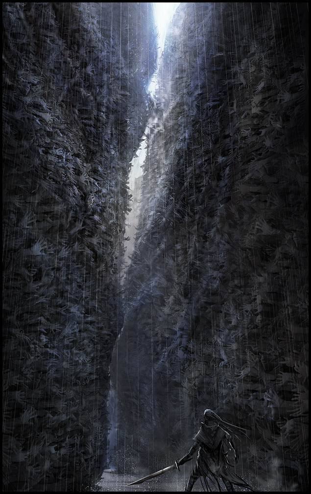 Hellblade PS4 Thousand Hand Canyon Concept Artwork