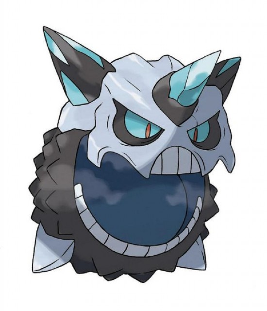 Mega Glalie Alpha Sapphire Omega Ruby Pokemon Official Artwork 3DS