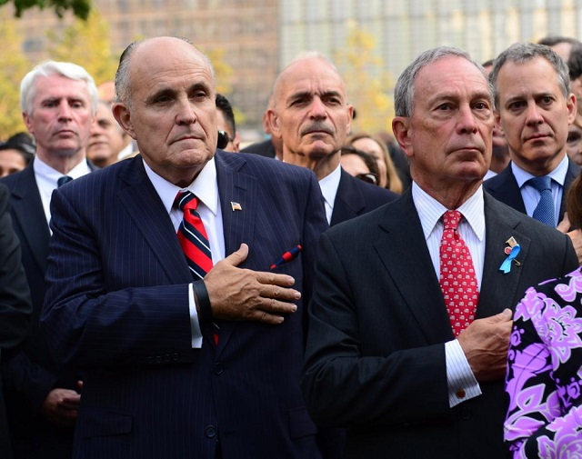 New York City 911 Memorial Rudy Giuliani Michael Bloomberg