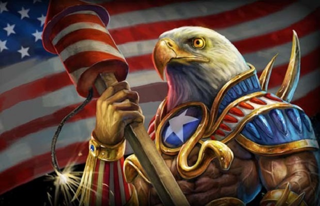 Patriotic Gaming Badass American Eagle and USA Flag