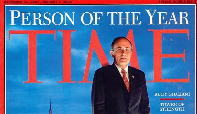 Time Magazine Rudy Giuliani Person of the Year Banner