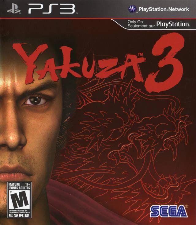 Yakuza 3 PS3 Box Art Front USA Mature