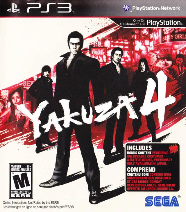 Yakuza 4 PS3 Box Art Front USA Mature