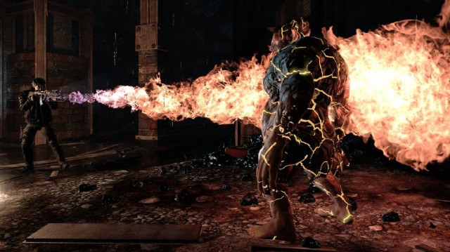 Alone in the Dark 6: Illumination Flamethrower Fire Beast Gameplay Screenshot