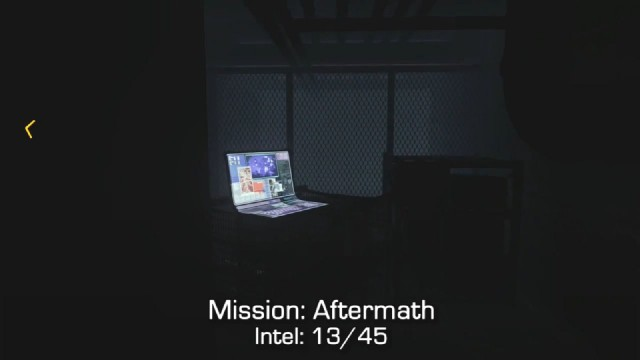 Call of Duty: Advanced Warfare Intel Location 13 in Mission 5: Aftermath