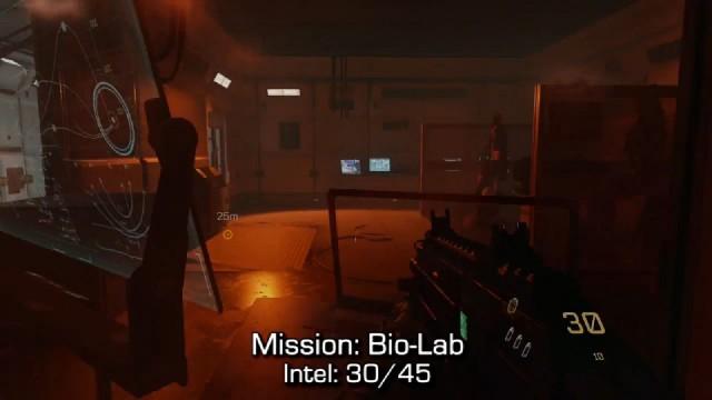 Call of Duty: Advanced Warfare Intel Location 30 in Mission 10: Bio-Lab