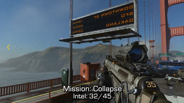 Call of Duty: Advanced Warfare Intel Location 32 in Mission 11: Collapse