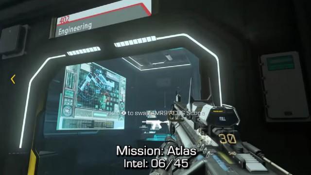 Call of Duty: Advanced Warfare Intel Location 6 in Mission 2: Atlas