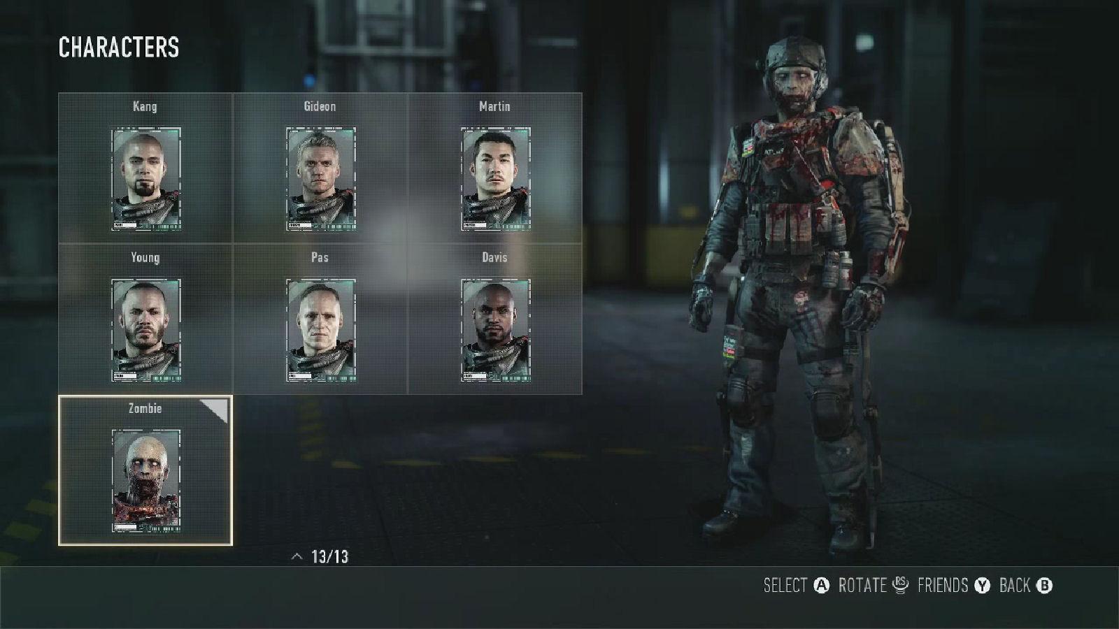 Call of Duty: Advanced Warfare Zombie Character